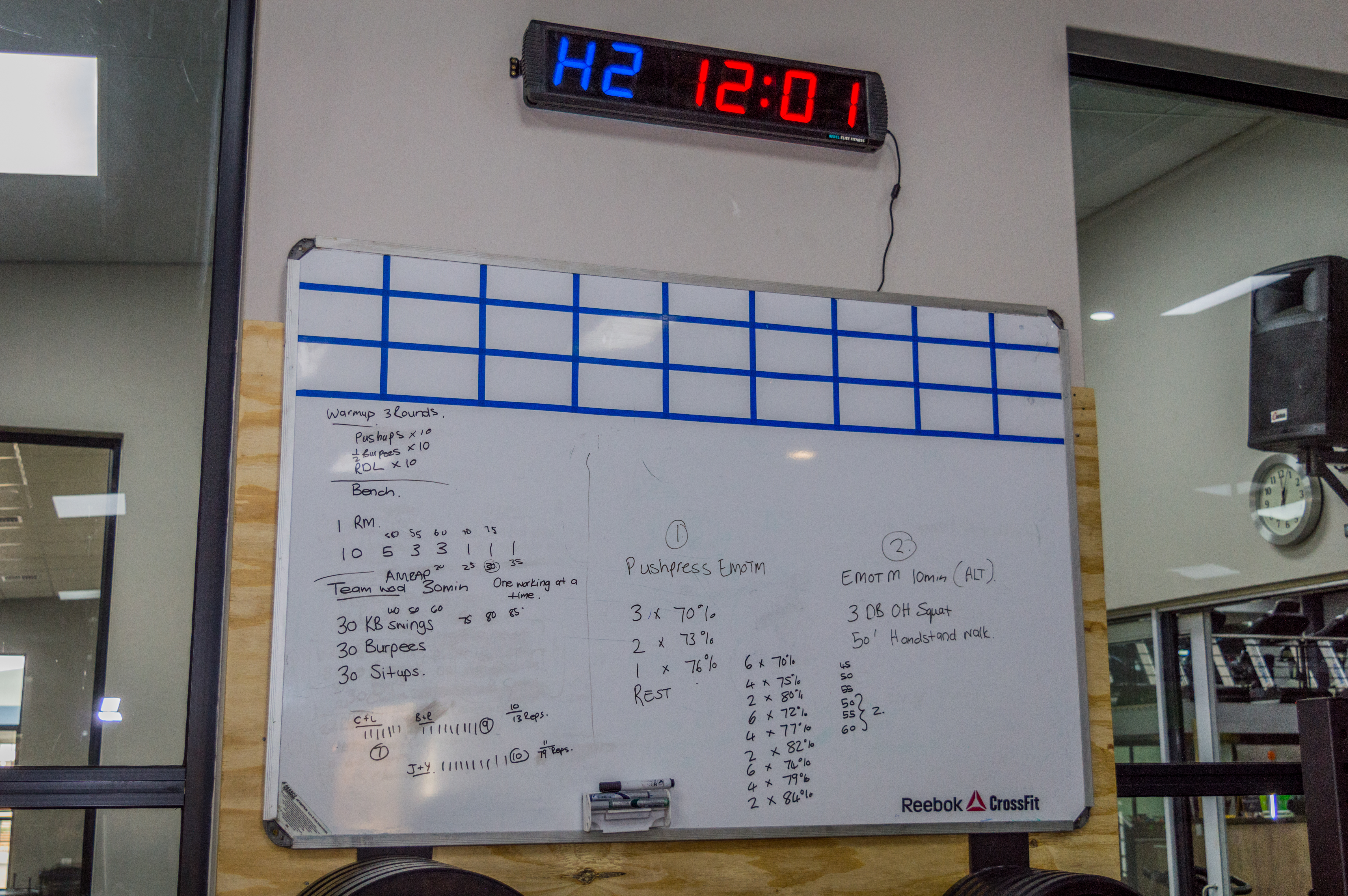 WOD Board and Timer