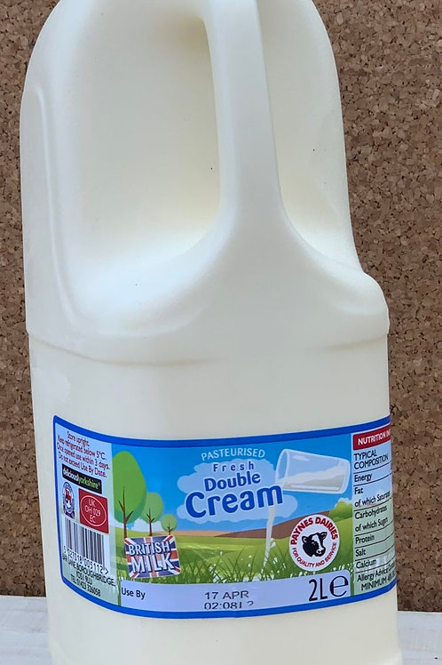 Fresh Double Cream - 2L