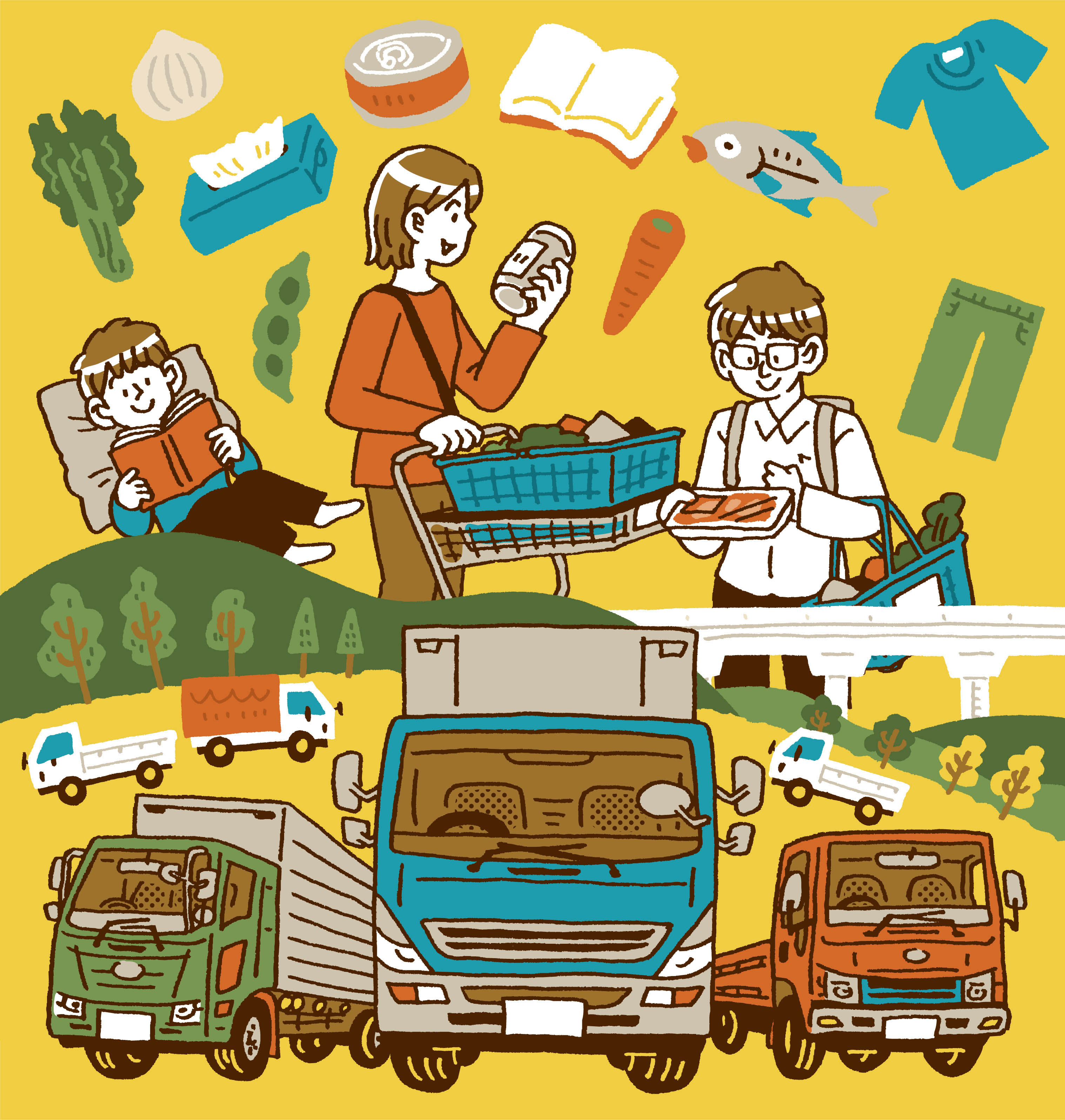 トラックが支える人々の暮らし