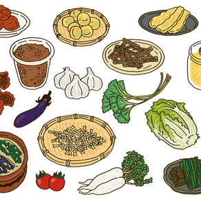 JA広島市さま「元気に暮らす保存食」2021年カレンダーイラスト
