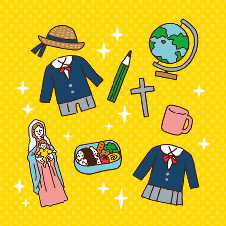 周南小さき花幼稚園さま 卒園アルバムイラスト
