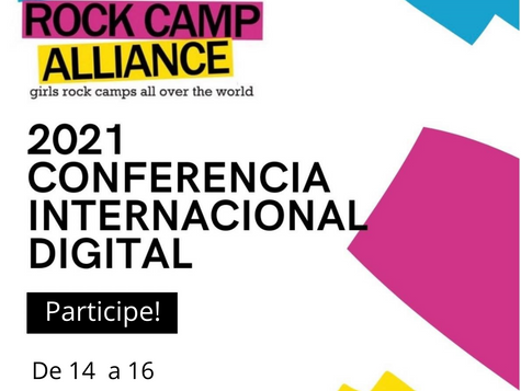 Girls Rock Camp Alliance Conferência Digital Internacional 2021 - Inscrições abertas