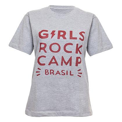 Camiseta Logo Oficial GRCBR Cinza