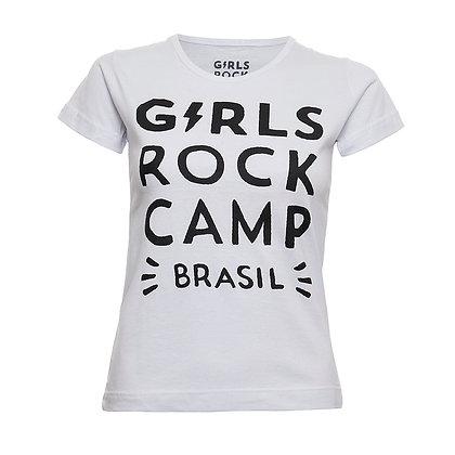 Camiseta Logo Oficial GRCBR Babylook Branca