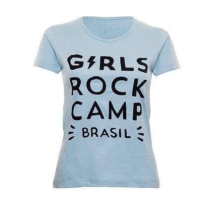 Camiseta Logo Oficial GRCBR Babylook Azul Claro