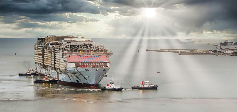 Le Wonder of the Seas. Première sortie en mer