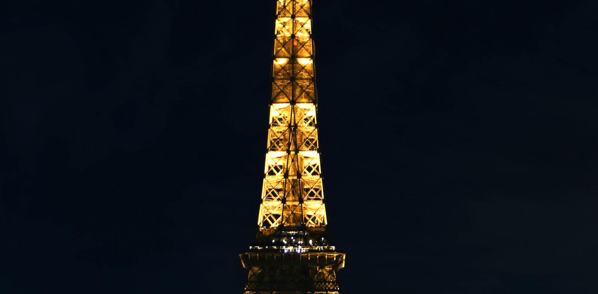 La tour Eiffel vu du Tracadéro