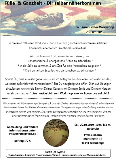 Workshop Meditation Achtsamkeit