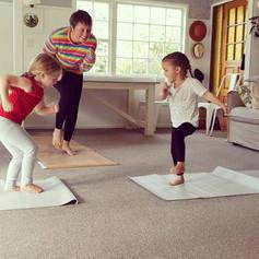 Yoga makes me strong!