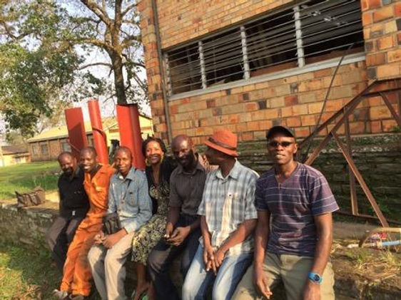 Latoya with locals in Cape Town