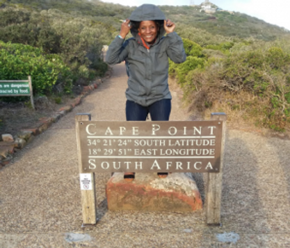 Latoya in at Cape Point