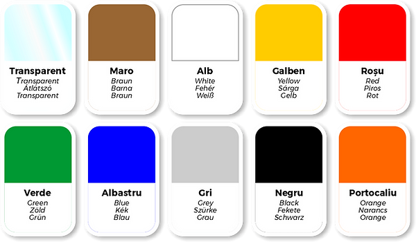 Culori banda adeziva ArtBazar