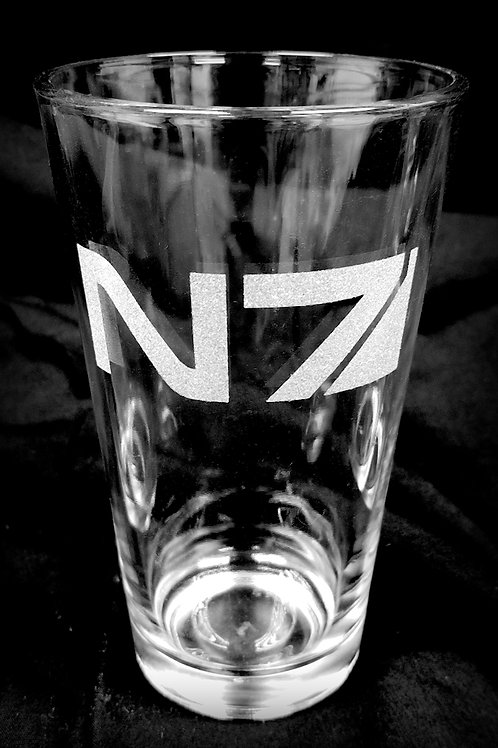 Pint Glass Inspired by Mass Effect N7