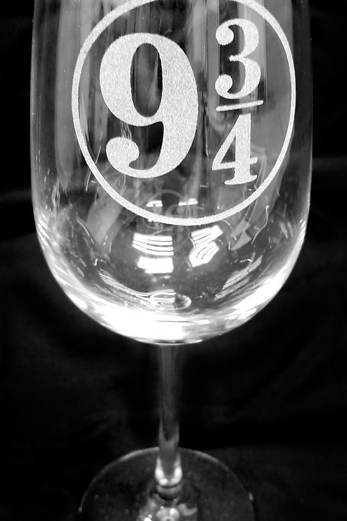 Wine Glass Inspired by Harry Potter 9 3/4