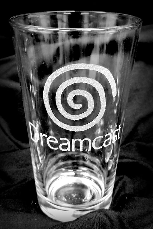 Pint Glass Inspired by SEGA Dreamcast