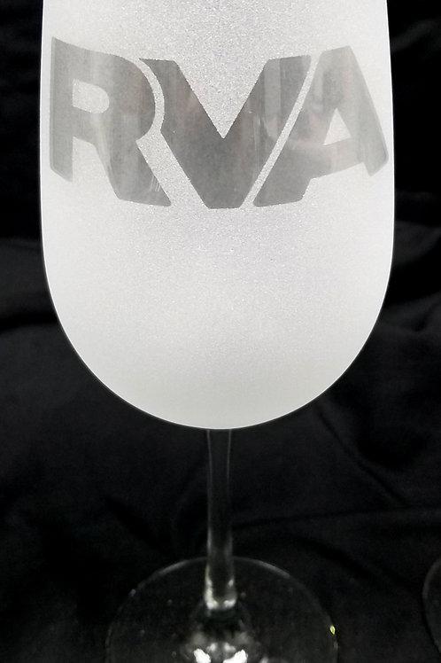 RVA Richmond VA Frosted Etched Wine Glass