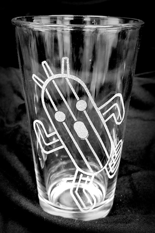 Pint Glass Inspired by Final Fantasy Cactuar