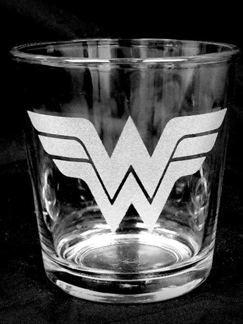 Rocks Glass Inspired by Wonder Woman