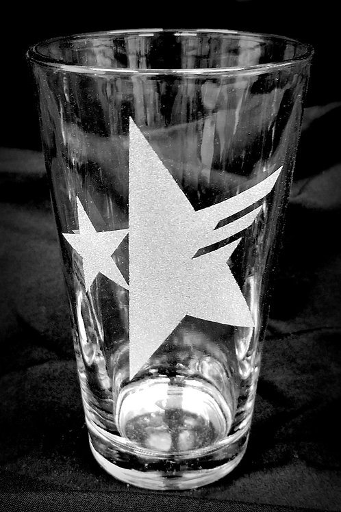 Pint Glass Inspired by Sonic Forces Star