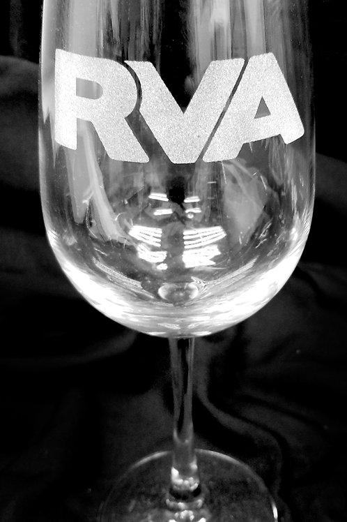 RVA Richmond VA Etched Wine Glass