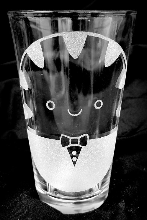 Pint Glass Inspired by Adventure Time Peppermint Butler