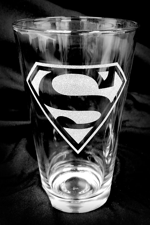 Pint Glass Inspired by Superman