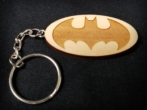 Wooden Keychain Inspired by Batman Classic