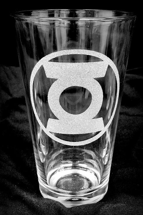 Pint Glass Inspired by Green Lantern