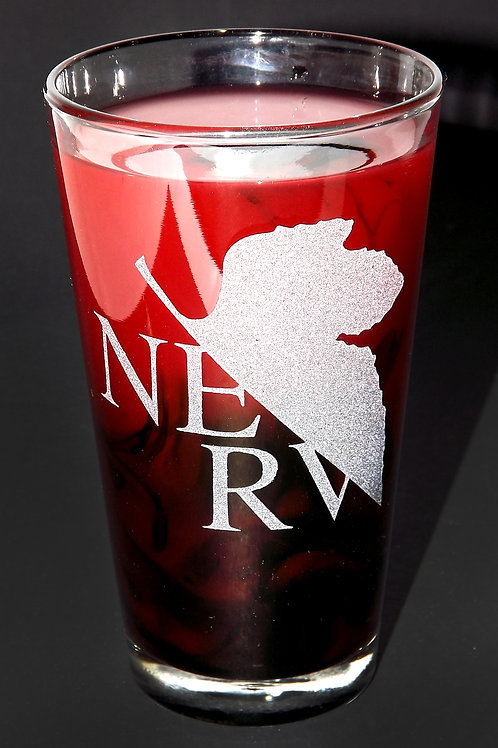 Pint Glass Inspired by Neon Genesis Evangelion NERV Classic