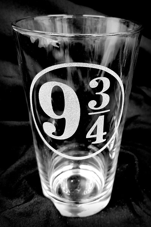 Pint Glass Inspired by Harry Potter 9 3/4