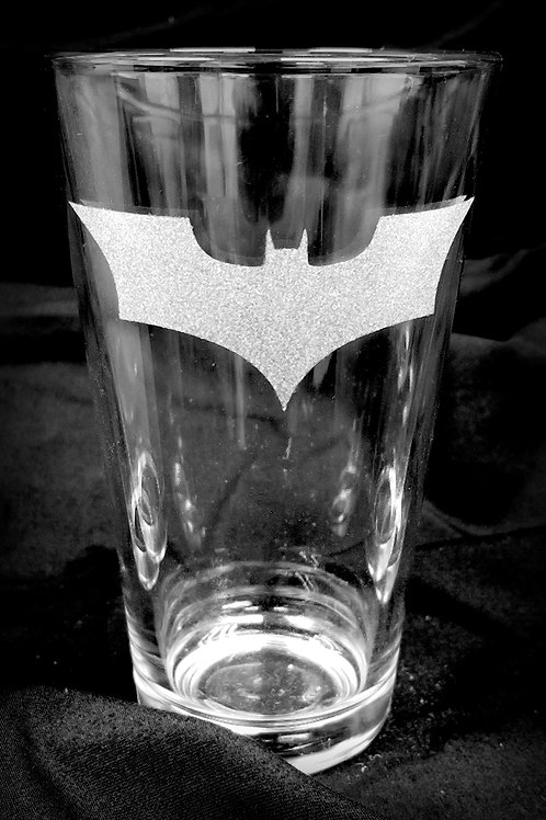 Pint Glass Inspired by Batman Dark Knight