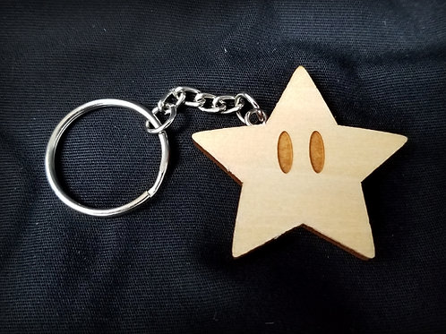 Wooden Keychain Inspired by Mario Starman