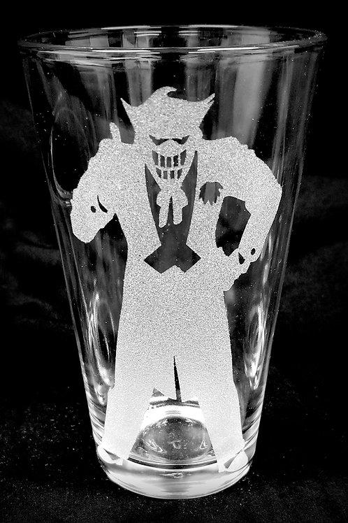 Pint Glass Inspired by The Joker