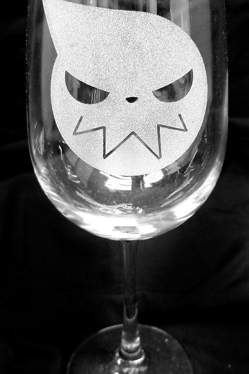 Wine Glass Inspired by Soul Eater