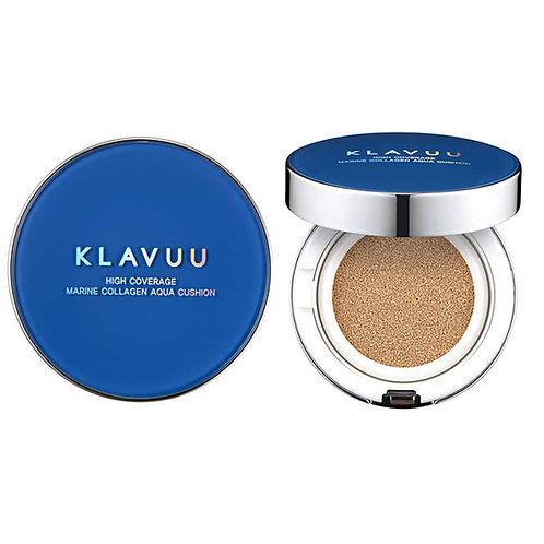 KLAVUU - Blue Pearlsation High Coverage Marine Collagen Aqua Cushion SPF50+PA+++
