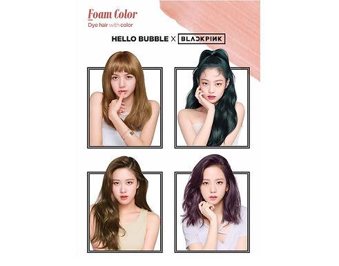 MISE EN SCENE - Hello Bubble x Blackpink Foam Color Hair Dye