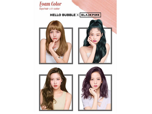 MISE EN SCENE - Hello Bubble x Blackpink Foam Color Hair Dye
