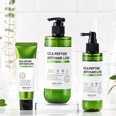 SOME BY MI - Cica Peptide Anti Hair Loss Derma Scalp Shampoo + Treatment + Tonic