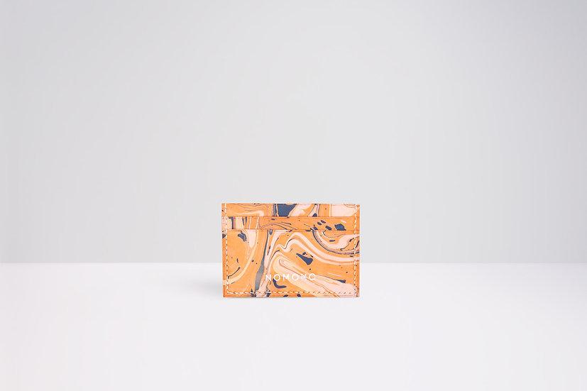 Tarjetero Marmolado | Waves - naranjo/azul