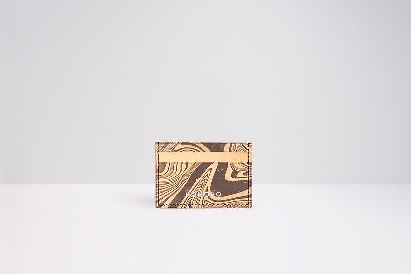 Tarjetero Marmolado | Waves - negro