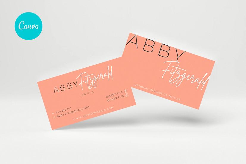 ABBY FITZ - 3 Editable Horizontal Business Card Templates