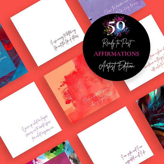 50 Ready to Post Affirmation Quote Social Media Posts - ARTIST EDITION