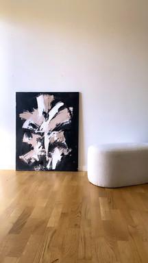 Abstrakt anor maleri moderne nordiske farver