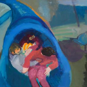 Inside the Blue Slide