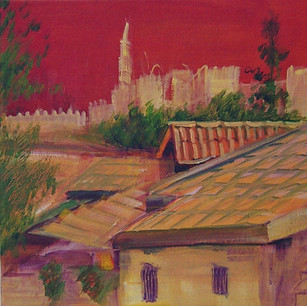 Rooftops Overlooking Tower of David