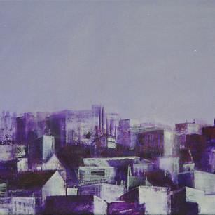 Jerusalem Cityscape in Purple