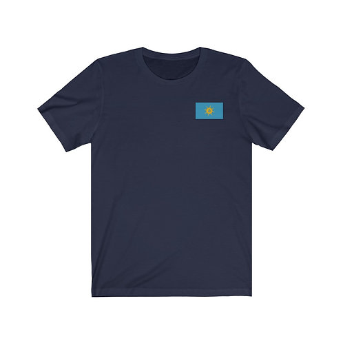 Navy-Blu Bitcoin Prosperity Flag T-Shirt