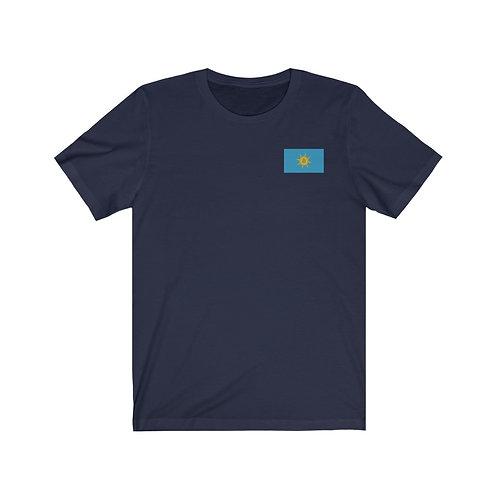 Navy-Blu Bitcoin Prosperity Flag T-Shirt