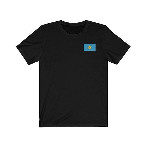 Midnight Black Bitcoin Prosperity Flag T-Shirt