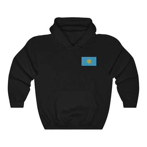 Midnight Black Bitcoin Prospect Flag Hoodie
